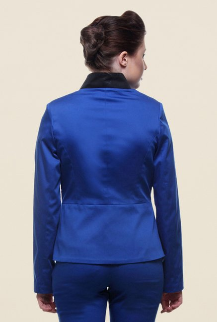 Kaaryah Blue Regular Fit Blended Jacket