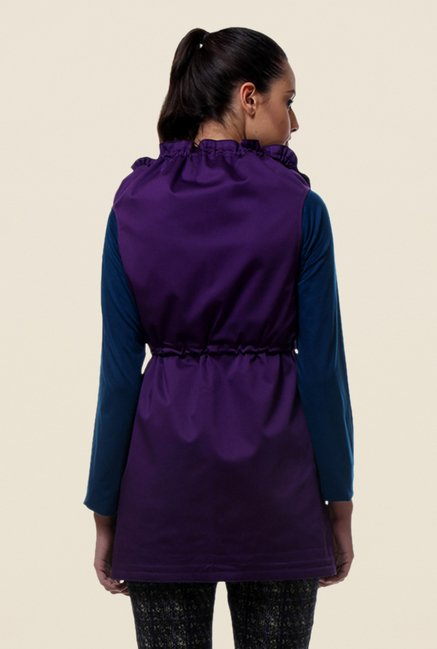 Kaaryah Purple Sleeveless Jacket