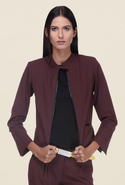 Kaaryah Brown Blended Jacket