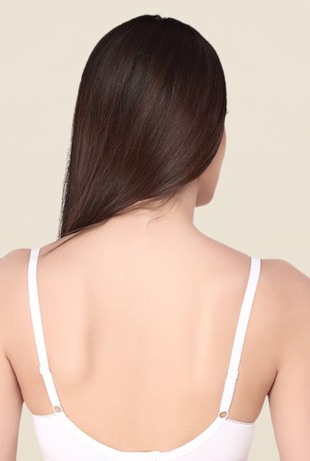 Soie White Wired All Day Cotton Bra