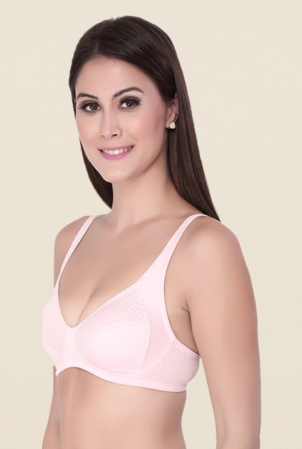 Soie Pink Full Coverage All Day Seamless Bra