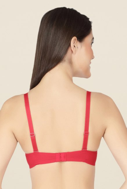 Soie Red Full Coverage T Shirt Bra