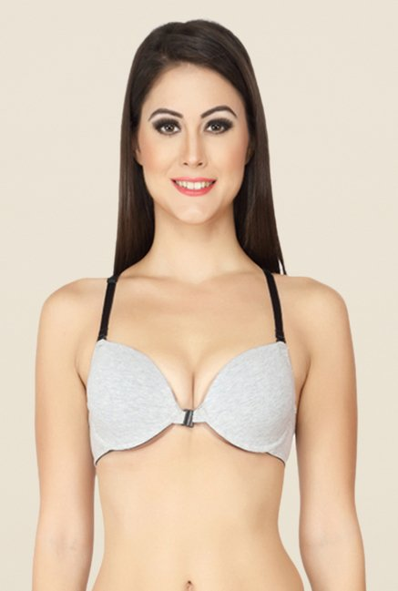 Soie Grey Convertible 2 In 1 Regular Bra