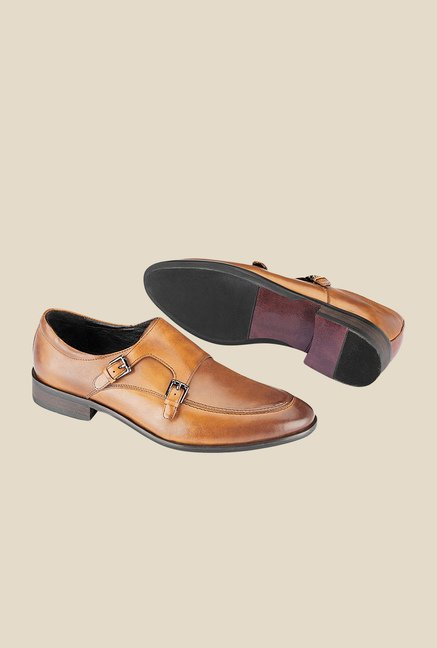 Tresmode Classy Brown Monk Shoes