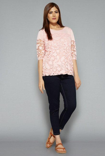 Gia by Westside Pink Viona Blouse