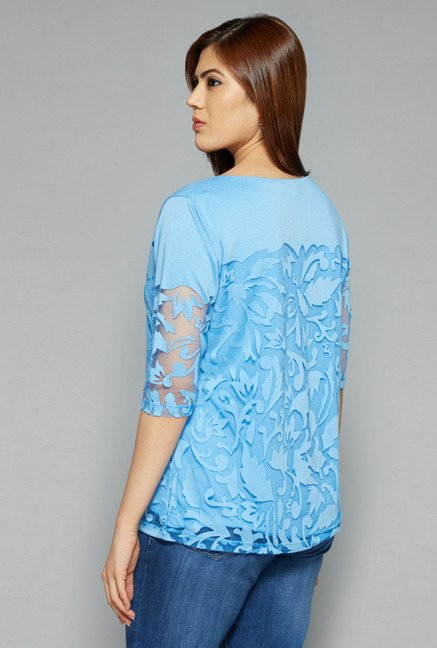 Gia by Westside Blue Viona Top