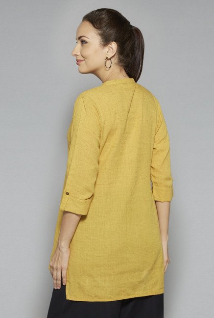 Utsa by Westside Yellow Solid Kurti