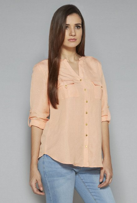 LOV by Westside Peach Holly Blouse