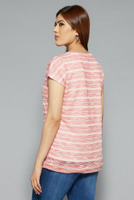 Gia by Westside Pink Dash Top