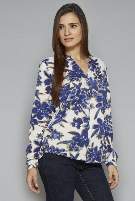LOV by Westside White Roni Blouse