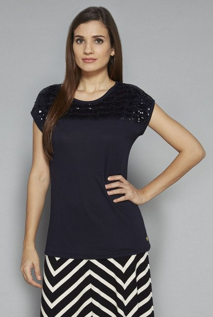 LOV by Westside Navy Arleen Top