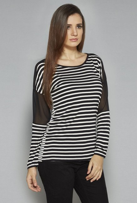 LOV by Westside Black & White Sabina Top