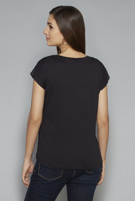 LOV by Westside Black Perry Top