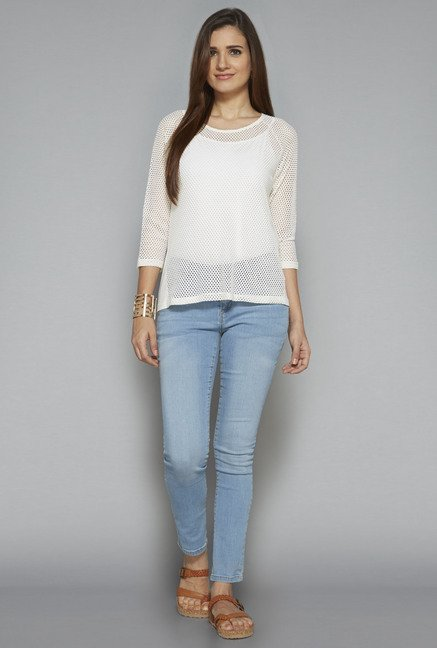 LOV by Westside White Jenica Top