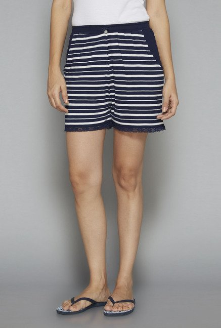Intima by Westside Navy Striped Shorts