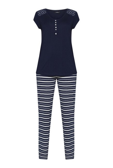 Intima by Westside Navy Striped Pyjama Set