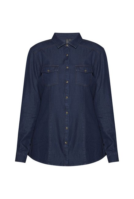 LOV by Westside Indigo Tammy Blouse