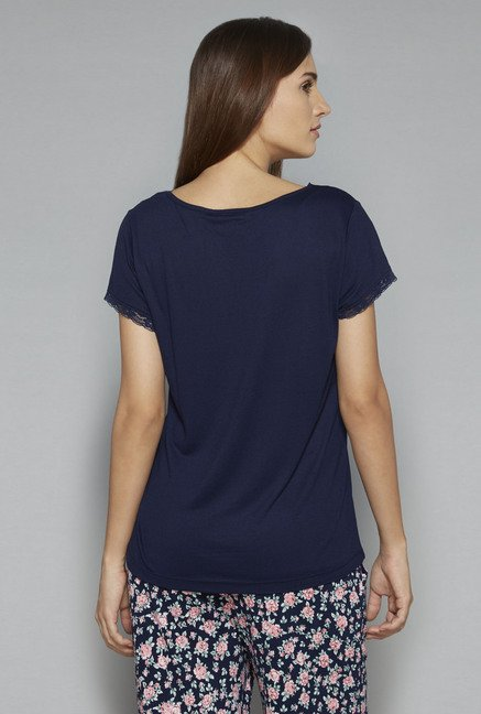 Intima by Westside Navy Solid Top