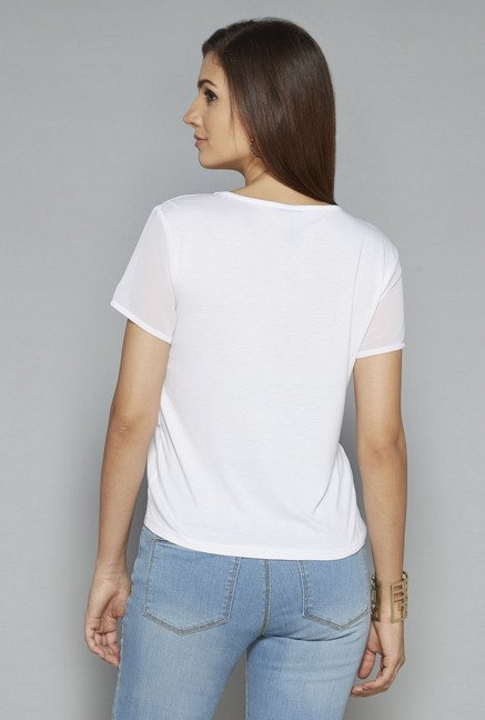 LOV by Westside White Breen Top