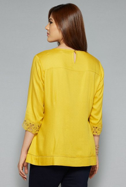 Gia by Westside Yellow Fiona Blouse