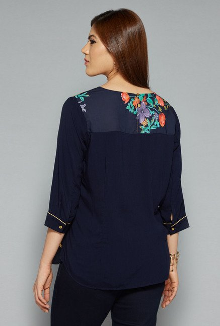 Gia by Westside Navy Finet Blouse