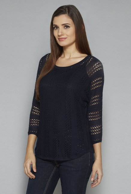 LOV by Westside Navy Lorrina Top