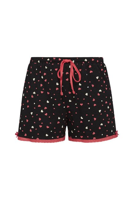 Intima by Westside Black Heart Print Shorts