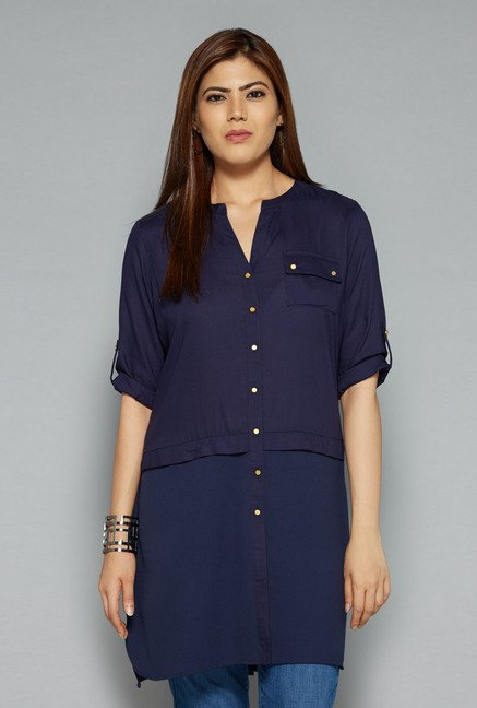 Gia by Westside Navy Liza Blouse