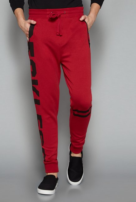 Nuon Men by Westside Red Printed Jogger
