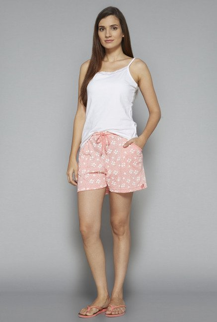 Intima by Westside Pink Floral Print Shorts