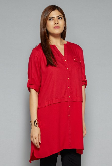 Gia by Westside Red Liza Top