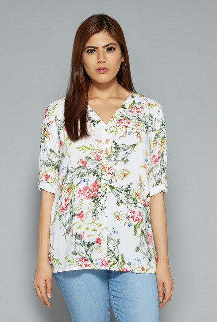 Gia by Westside White Prada Blouse