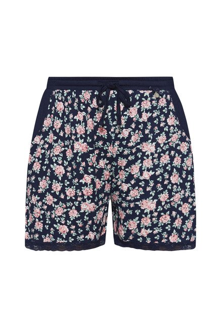 Intima by Westside Navy Floral Print Shorts