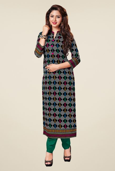 Salwar Studio Multicolor Cotton Printed Unstitched Kurti