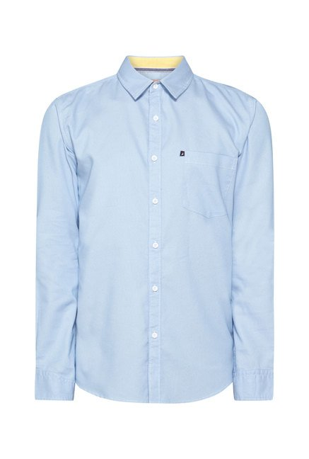 Provogue Sky Blue Slim Fit Shirt
