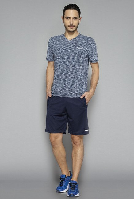 Westsport by Westside Navy Self Print Shorts