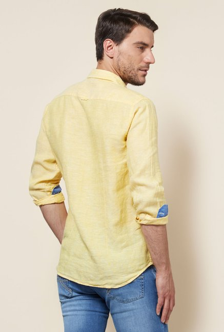 Provogue Yellow Slim Fit Shirt