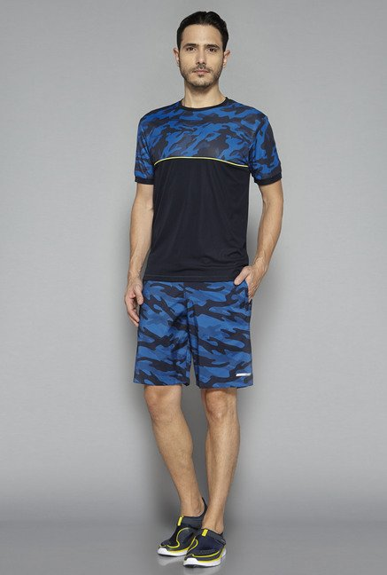 Westsport by Westside Blue Printed Shorts