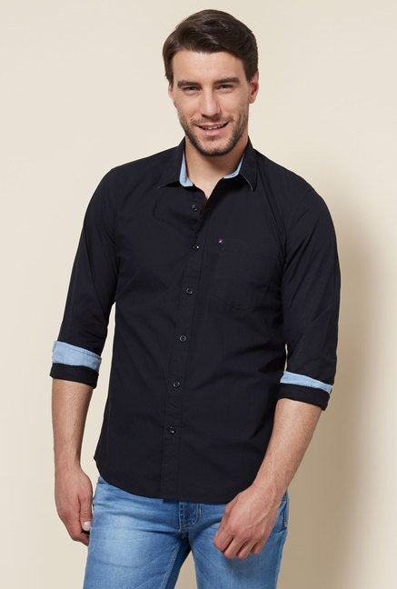 Provogue Black Slim Fit Shirt