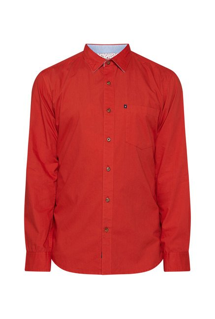 Provogue Red Slim Fit Shirt