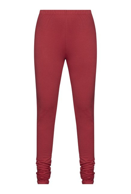 Utsa by Westside Red Solid Leggings