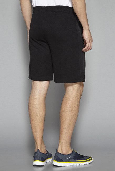 Westsport by Westside Black Solid Shorts