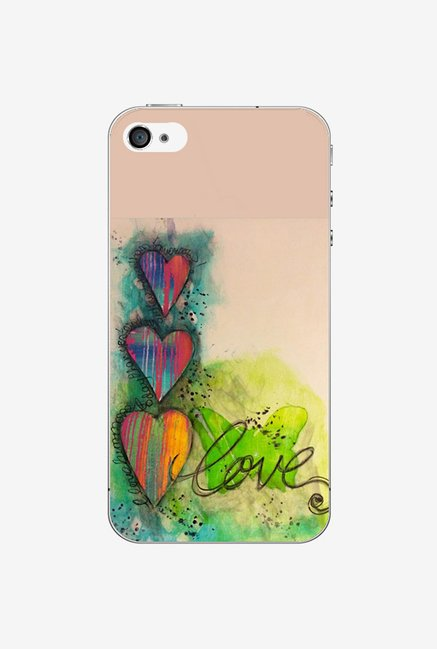Ziddi LUVPAINT Hard Back Cover for iPhone 4S (Multi)