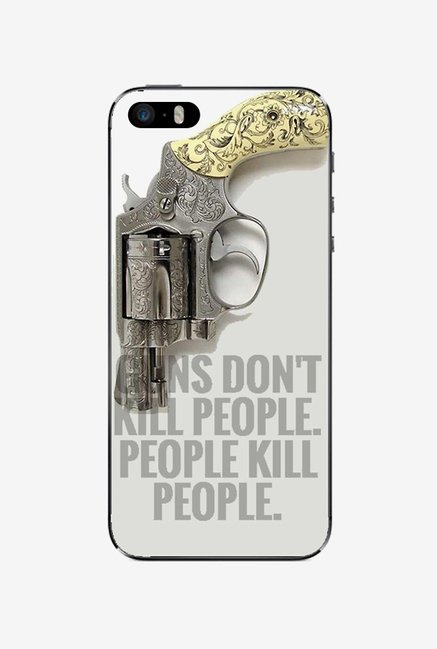 Ziddi GUN Hard Back Cover for iPhone 5S (Multi)
