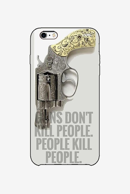 Ziddi GUN Hard Back Cover for iPhone 6S (Multi)