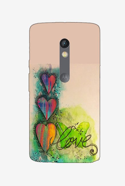 Ziddi LUVPAINT Hard Back Cover for Moto X Play (Multi)