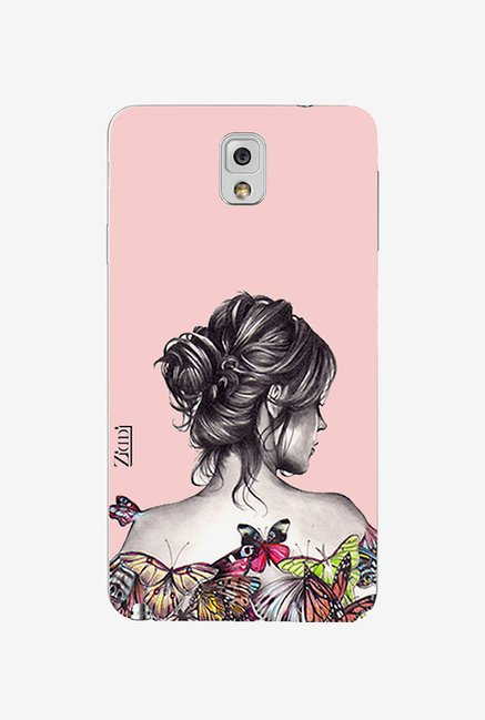 Ziddi LADY Hard Back Cover for Galaxy Note 3 (Multi)