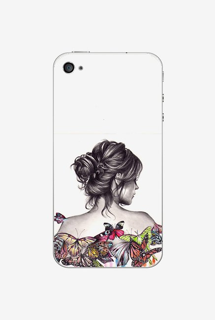 Ziddi LDYBCKBTRFLY Hard Back Cover for iPhone 4 (Multi)