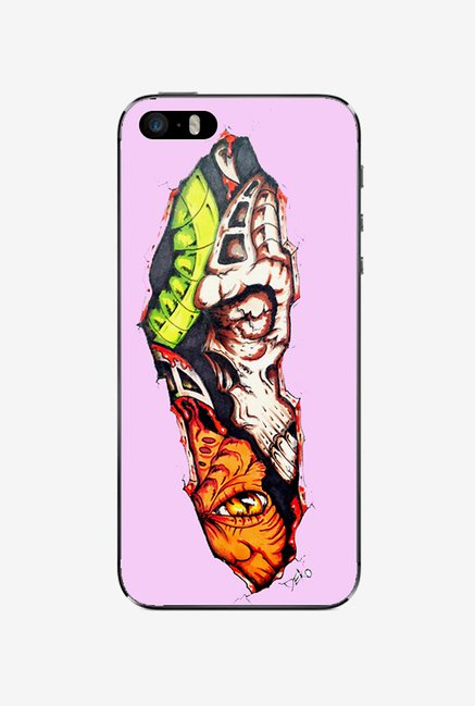 Ziddi HALFSKULS Hard Back Cover for iPhone 5 (Multi)
