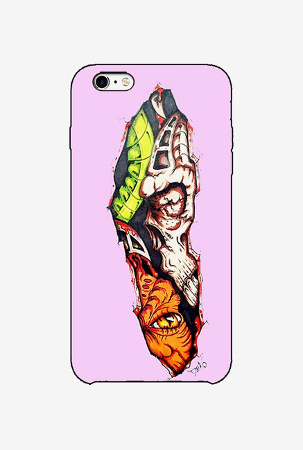Ziddi HALFSKULS Hard Back Cover for iPhone 6 (Multi)